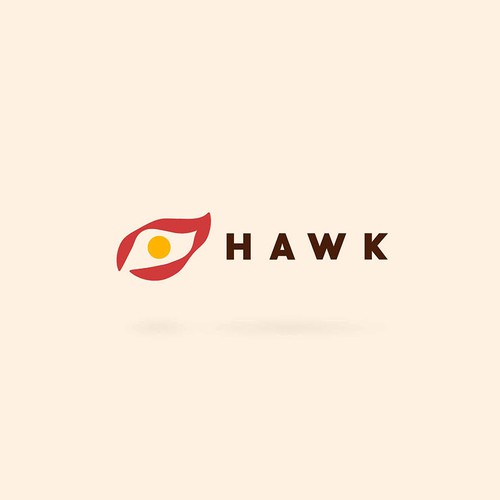 Hawk logo with the title 'Food safety system logo'