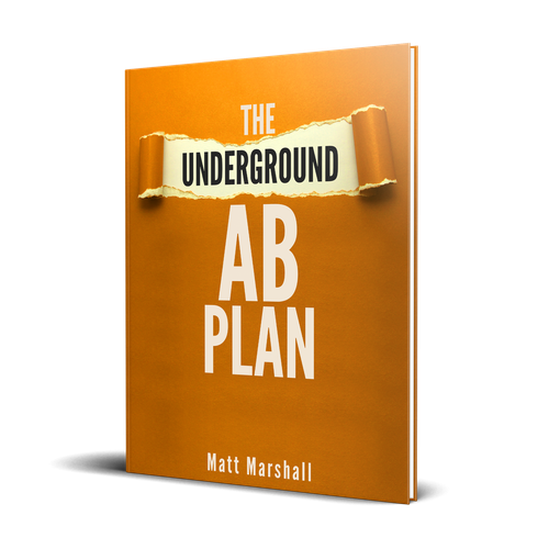 Diet book cover with the title 'The Underground Ab Plan-Book Cover'