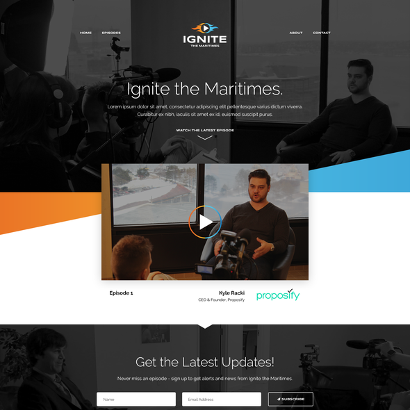 Adaptive design with the title 'Ignite the Maritimes! '