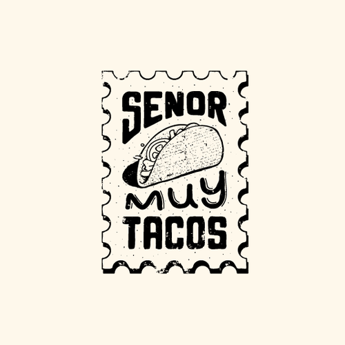 Taqueria logo with the title 'Logo for Senor Muy Tacos'