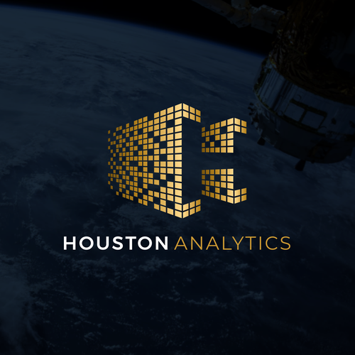 Artificial intelligence logo with the title 'Houston Analytics'
