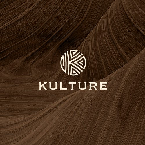Cultural logo with the title 'KULTURE Logo design for cool cafe and store'