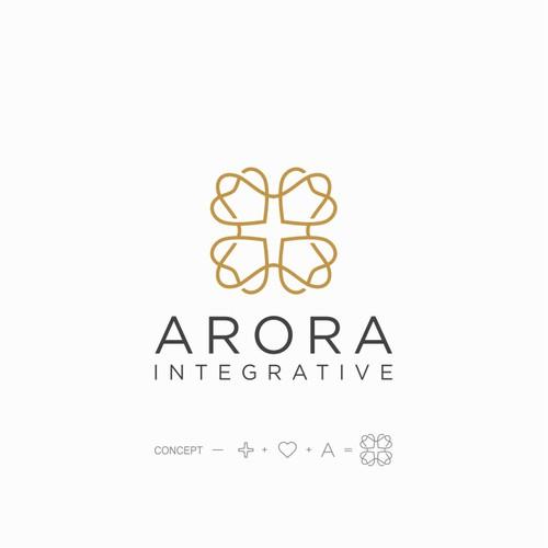 Plus logo with the title 'Arora logo'