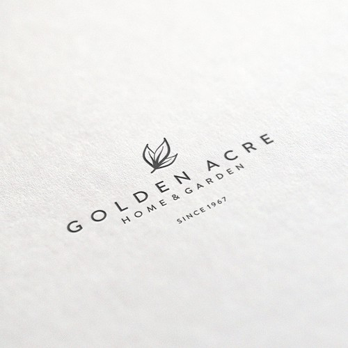 Plant design with the title 'Logo concept for Golden Acre'