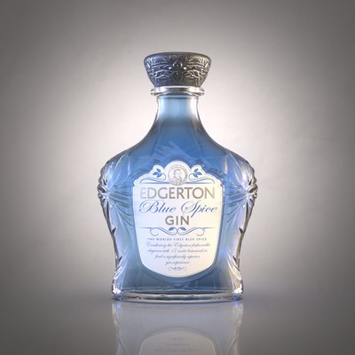 Re-Design a luxury blue Gin
