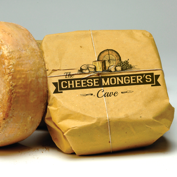 Cheese logo with the title 'The Cheese Monger's Cave needs a new logo'