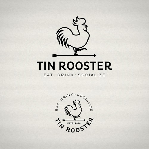 Rooster design with the title 'Logo for a restaurant'