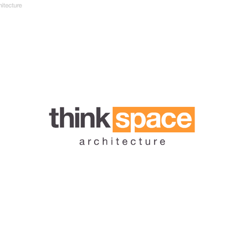 Thinking logo with the title 'Architectural firm seeks visual clarity. 2 contests, 2 guaranteed prizes! CONTEST #1: ThinkSpace'