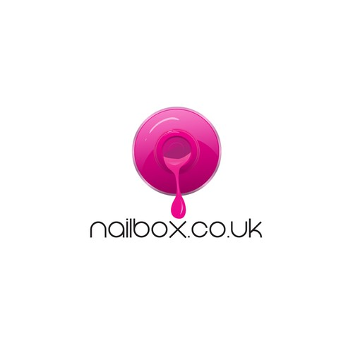 Nail logo with the title 'Create a capturing, recognisable logo for a new nail polish website'