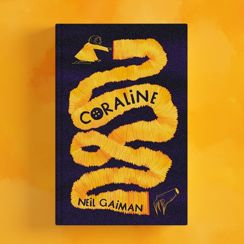 Book artwork with the title 'Remake of the book Coraline'
