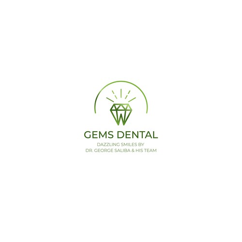 Gemstone logo with the title 'Gems Dental'