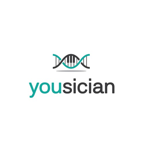 DNA logo with the title 'Logo for Yousician - the future of music learning!'