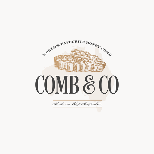 Comb design with the title 'Logo concept for Comb & Co'