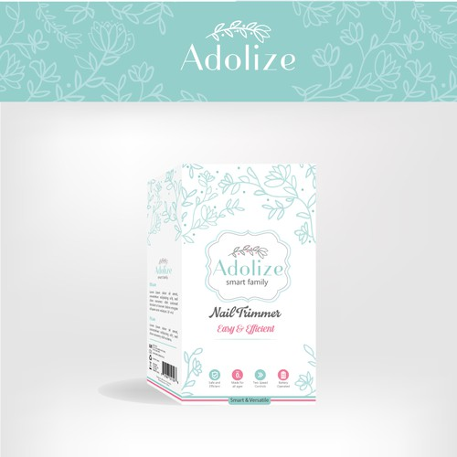 Blossom design with the title 'Nail Trimmer Package for Adolize'