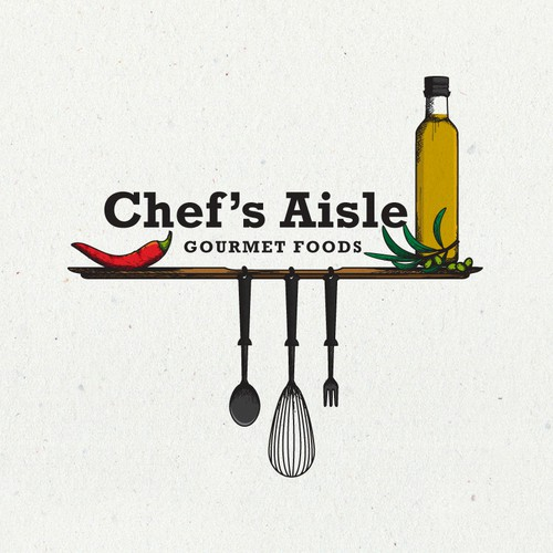 Artisan logo with the title 'logo for chef's aisle'