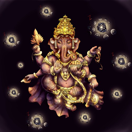Light illustration with the title 'The Ganesha'