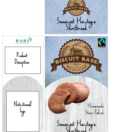 Biscuit design with the title 'Biscuit Box Packaging'