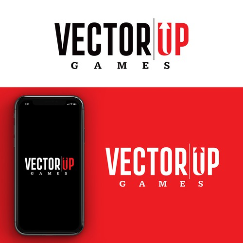 Up design with the title 'VECTOR UP GAMES'