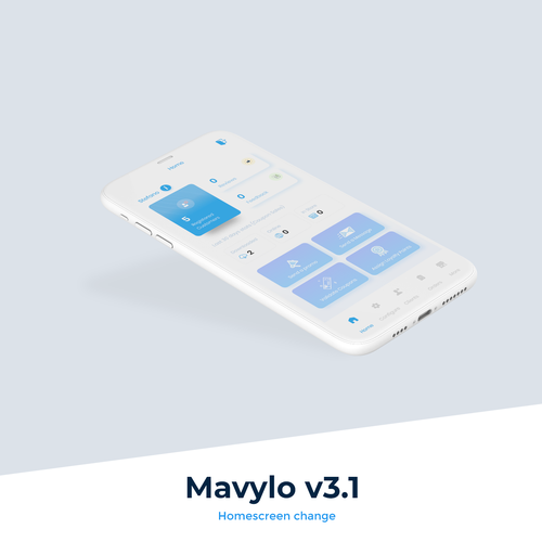 Rating design with the title 'A retail app - Mavylo'