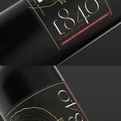 Label design for the Bordeaux wines