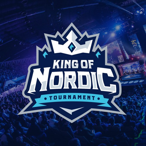 Twitch logo with the title 'King of Nordic - King theme (logo)'