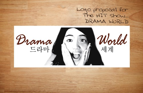 Drama logo with the title 'Logo Design for a web show'