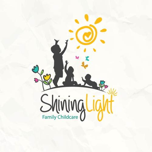 Nursery logo with the title 'Sunshine magic!'