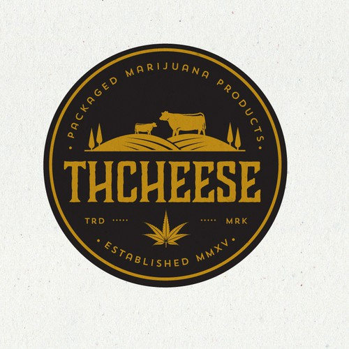 Marijuana design with the title 'THCheese'