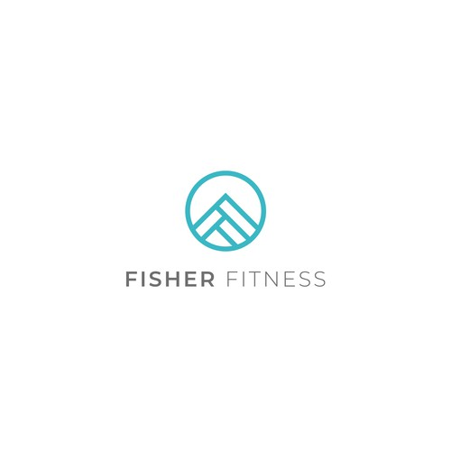 Holistic logo with the title 'Simple logo for wellness fitness company.'