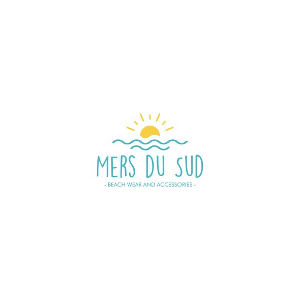 Blue and yellow logo with the title 'logo Mers du Sud'