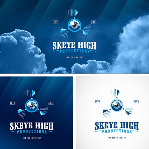 Eye design with the title 'logo for SkEye High Productions'