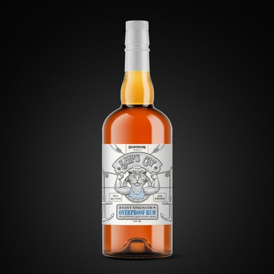 3rd Rum label Navy Strength, based on Aged Rum label