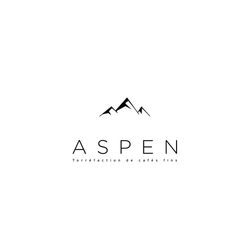 Refined logo with the title 'Aspen Coffee | Submitted logo #126'
