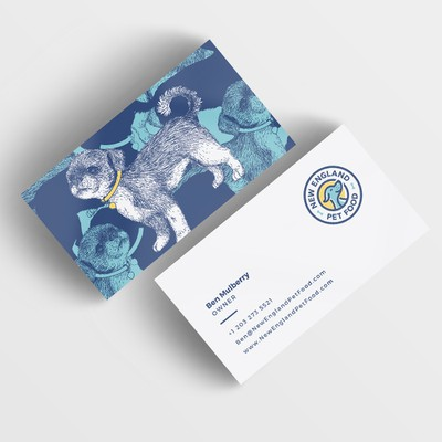 Cute Business card for New England Pet Food