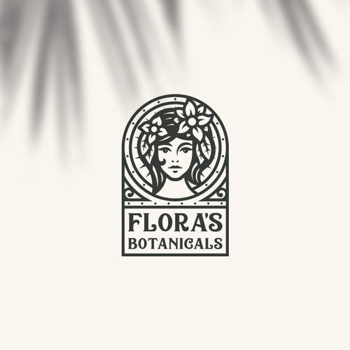 Botanical design with the title 'Flora's Botanicals Logo'