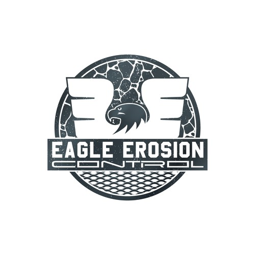 Construction brand with the title 'Erosion Control Logo'