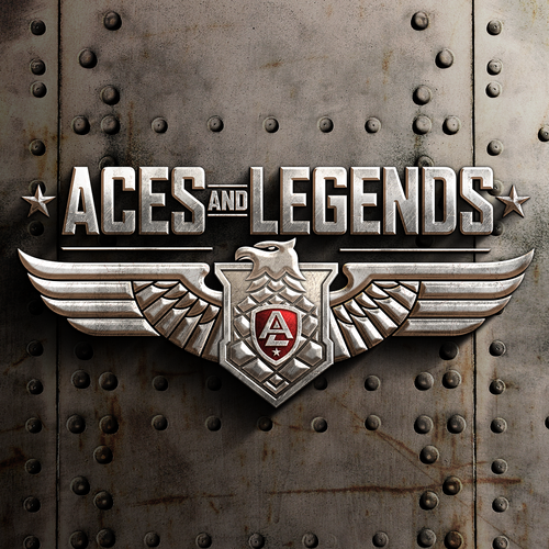 Eagle logo with the title 'Logo design for Aces and Legends'