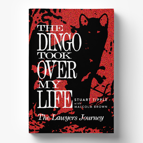 Biography design with the title 'Book Cover Design for Famous Australian Dingo Story'