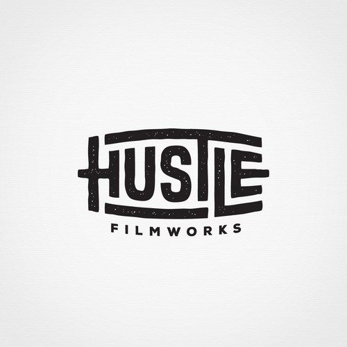 Handmade logo with the title 'Handcrafted lettering logo for a filmmaker '