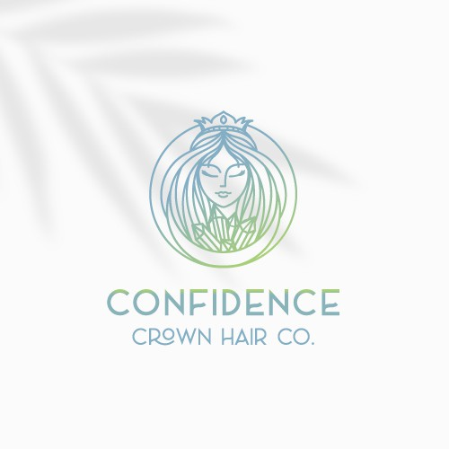 Female design with the title 'Confidence Crown Hair '