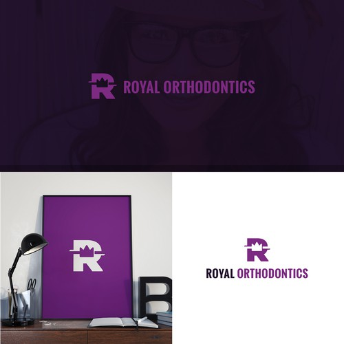Royal logo with the title 'Logo design'