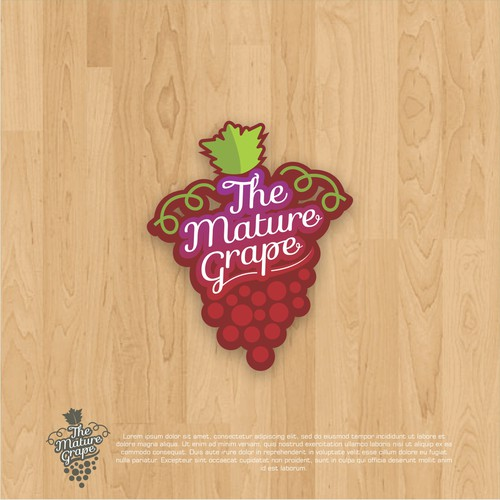 Vine logo with the title 'logo concept for Mature Grape'