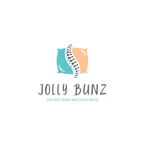 Spine logo with the title 'Playful Logo for Jolly Bunz'