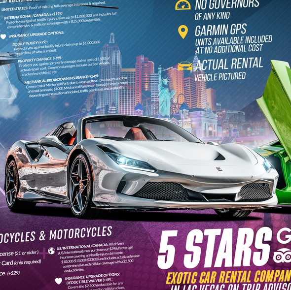 Vegas design with the title 'Royalty Exotic Cars Brochure'