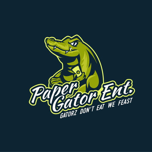 Crocodile logo with the title 'PAPER GATOR ENT.'