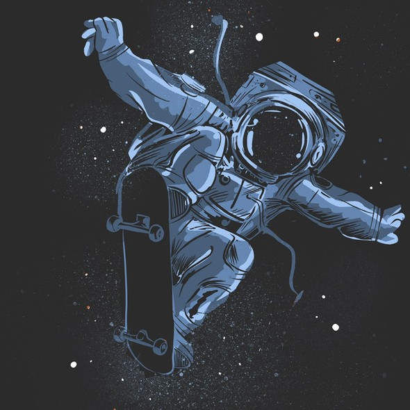 Internet t-shirt with the title 'Rad Astronaut '