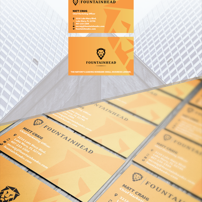 Modern Business Card for Accounting Company