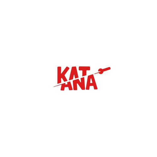 Split logo with the title 'Katana logo'