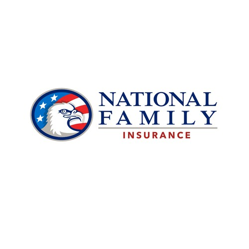 American flag logo with the title 'National Family Insurance'