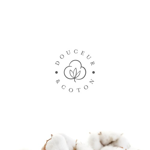 French cafe logo with the title 'Douceur&Coton'